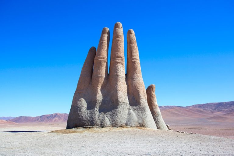 The desert hand in Chile