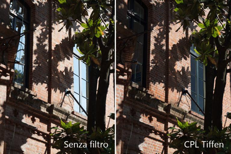 Effetto filtro polarizzatore riflessi