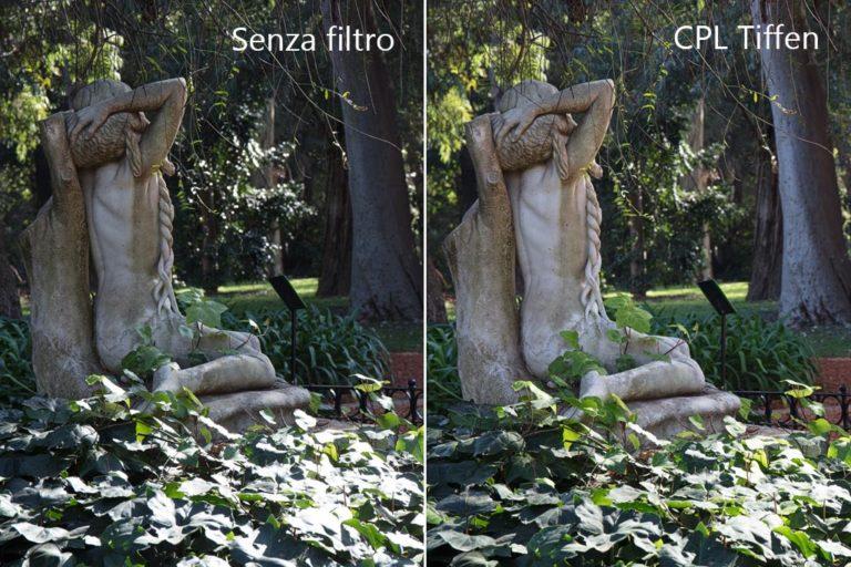 Aumento contrasto filtro polarizzatore