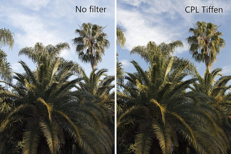 Saturation effect polarizer filter