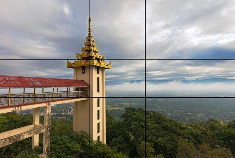 Seccion aurea aplicada a un paisaje
