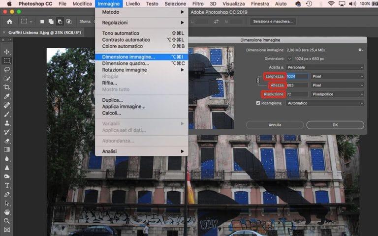 Ottimizzare immagini per il web con Photoshop