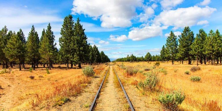 Profundidad de campo en paisaje