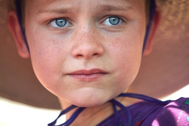 Mennonite girl portrait