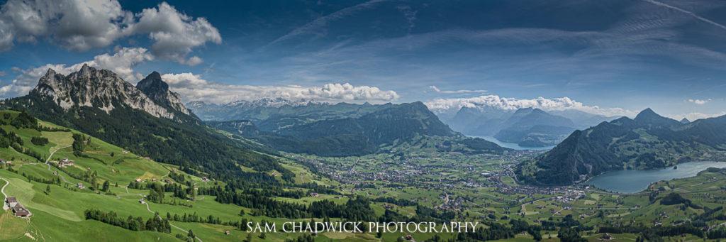 paesaggio sulle alpi svizzere