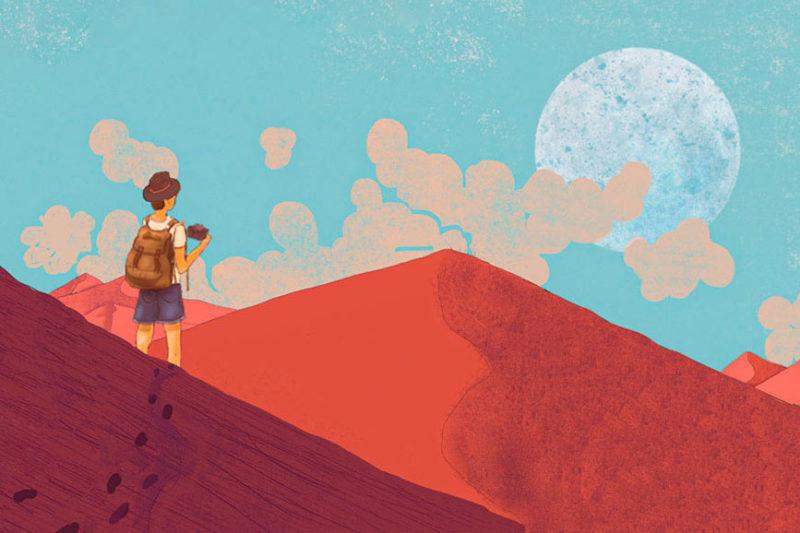fotografo di viaggi nel deserto