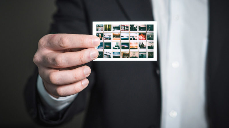 business card portfolio