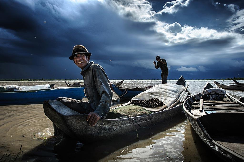 Tonle Sap fisherman in Cambodia