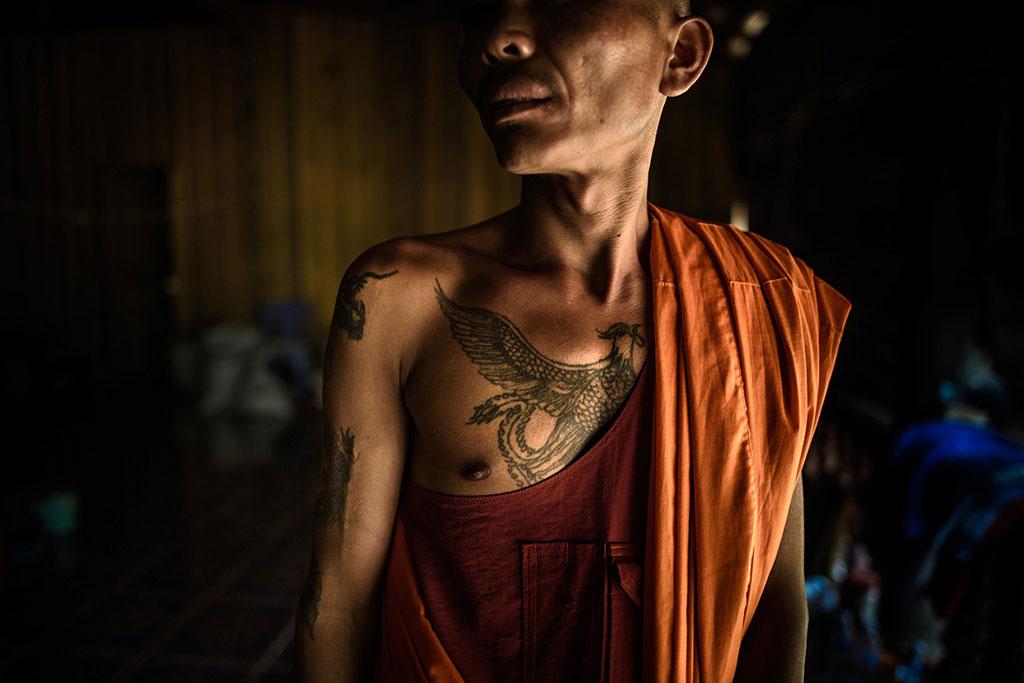 Sak Yant tatoos in Cambodia