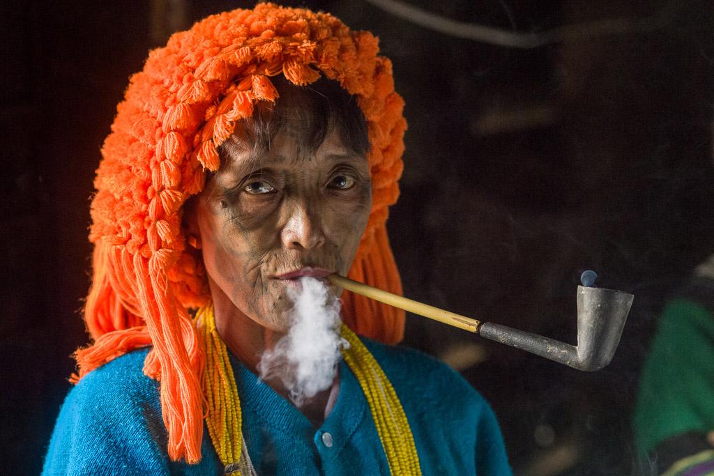 myanmar tribe portrait