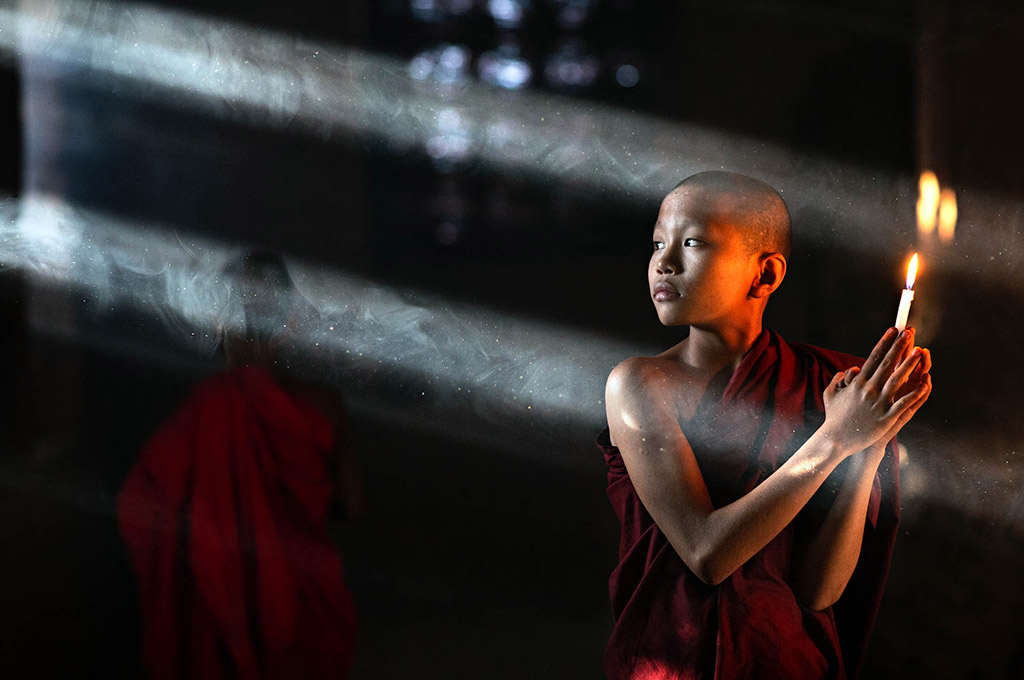 buddhist monk light
