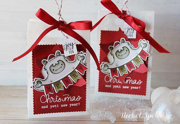 Handmade Holiday 2017 Vellum Amp Yeti Favor Bags