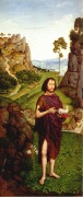 Dietrich Bouts, der Jüngere: Johannes in der Landschaft, um 1470, Alte Pinakothek in München