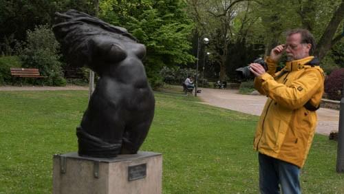 Sogar Aktfotografie war dabei - Skulptur