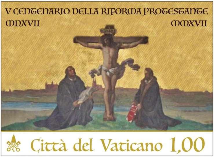 Briefmarke des Vatikans zur Reformation