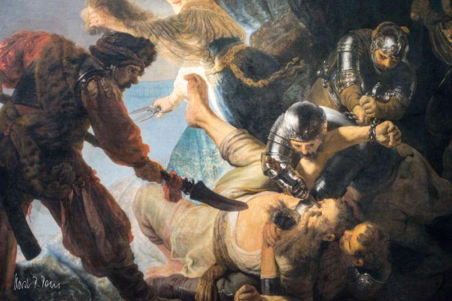 "Rembrandts ""die Blendung des Simson"""