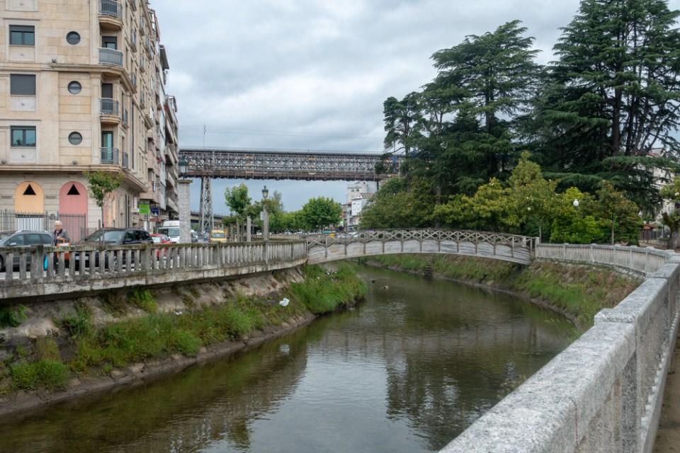 Das historische Viadukt ist leider eingerüstet