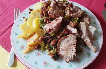 Schweinefilet auf Grünkohl