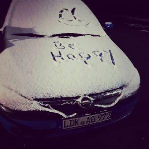 Heute morgen an meinem Auto. #happy