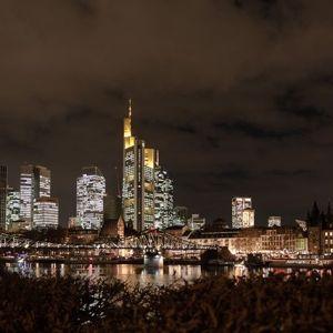 Frankfurt am Abend, #skyline #eisernersteg