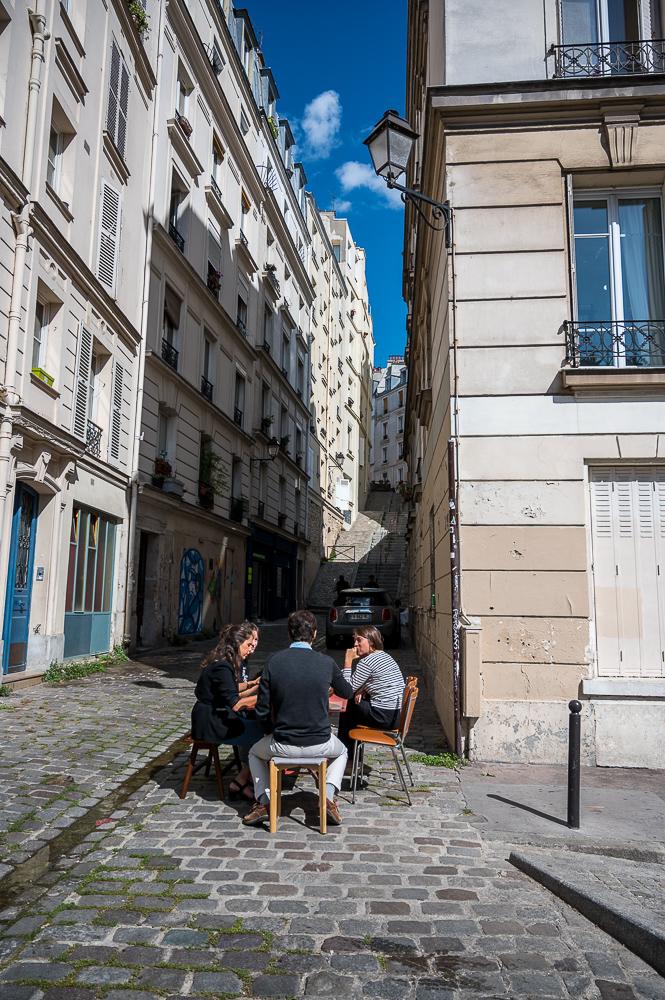 In den Gassen von Montmartre