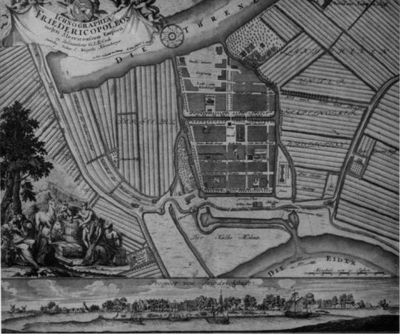 Plan Friedrichstadt um 1750