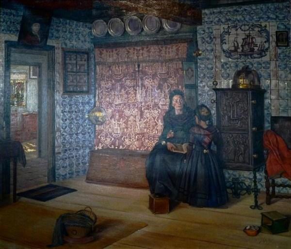 Königspesel. Gemälde von Jacob Alberts