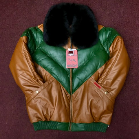 """366674fe67f Goose Country V-Bomber """"Beef and Broccoli"""""""