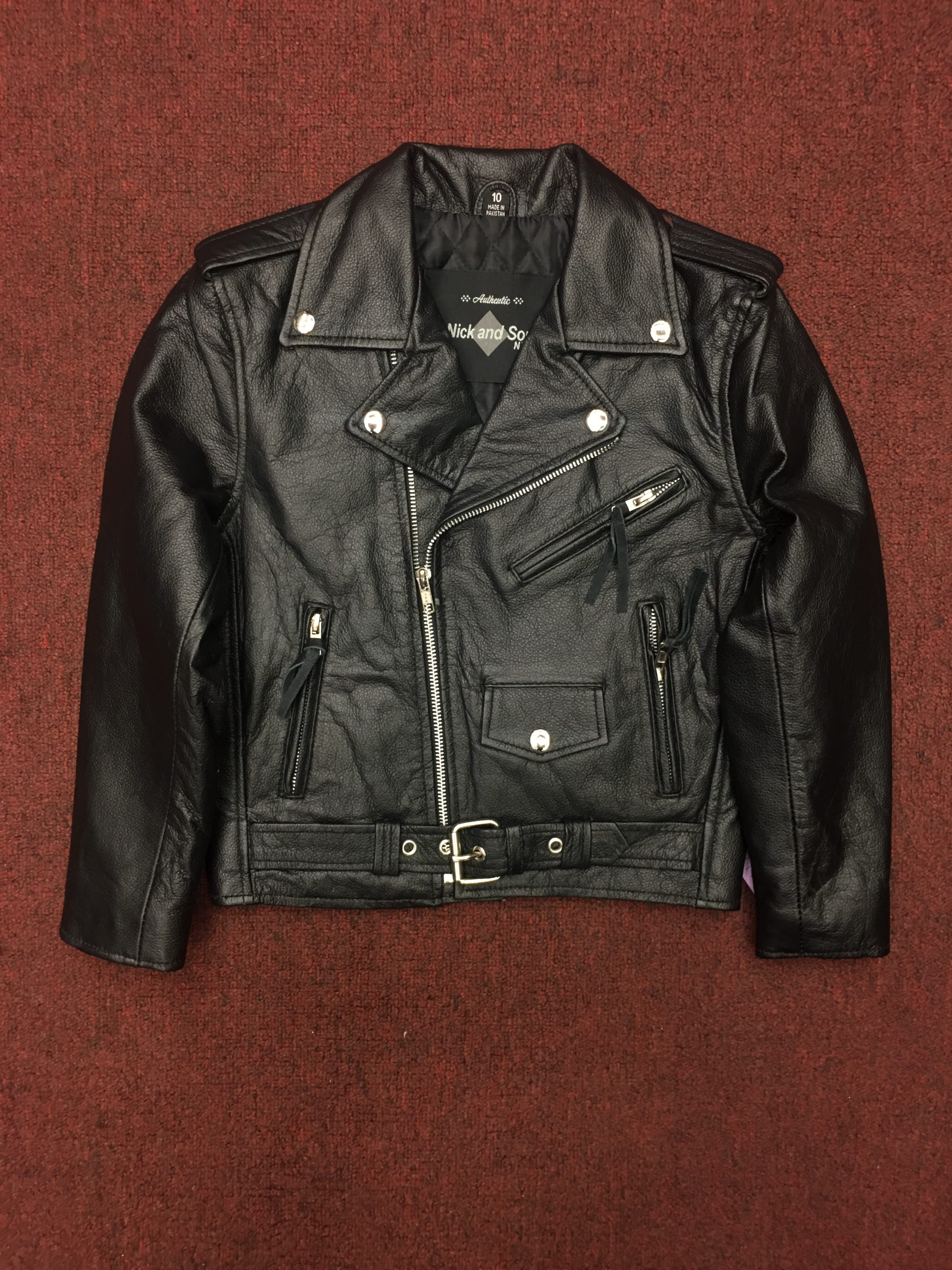 cea2db75d Home / Moto / Kids Leather Motorcycle Jacket