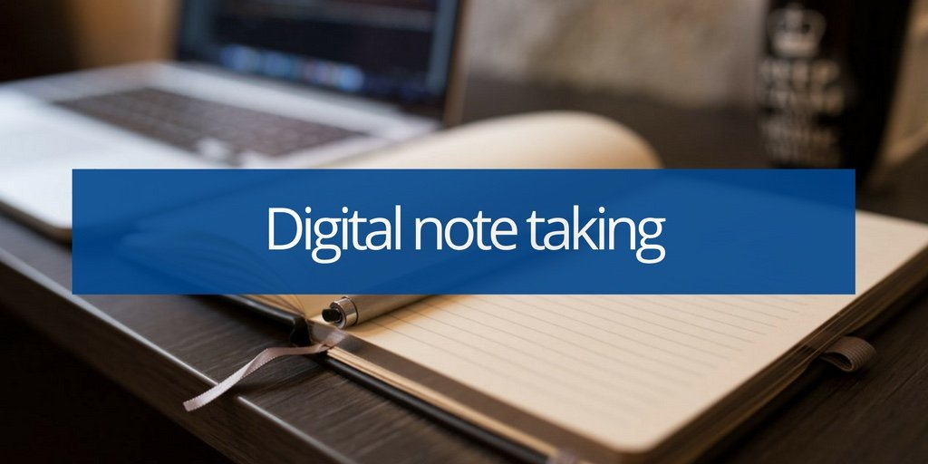 Digital note taking