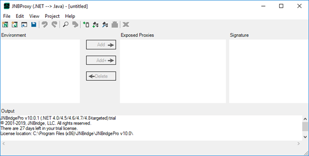 The JNBProxy application.