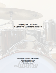 Playing the Drums Nick Costa k-12 music education drum set guide