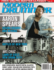 Modern Drummer July 2020 issue featuring a lesson by Nick Costa on displacing paradiddles nick costa drums nick costa music nick costa teacher nick costa ludwig nick costa remo nick costa vic firth nick costa zildjian