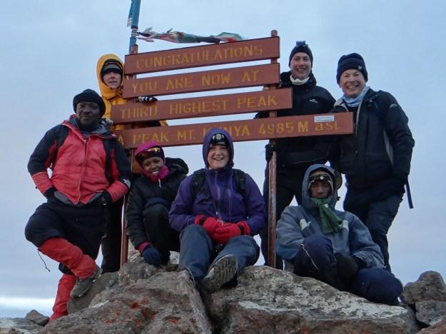 We reach the summit of Mount Kenya