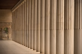 Colonnade and steps inside Stoa of Attalos