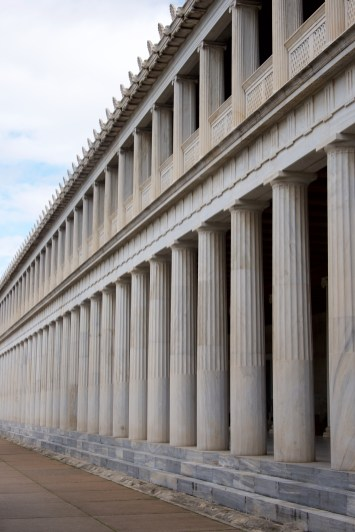 Stoa of Attalos with two marble colonnades