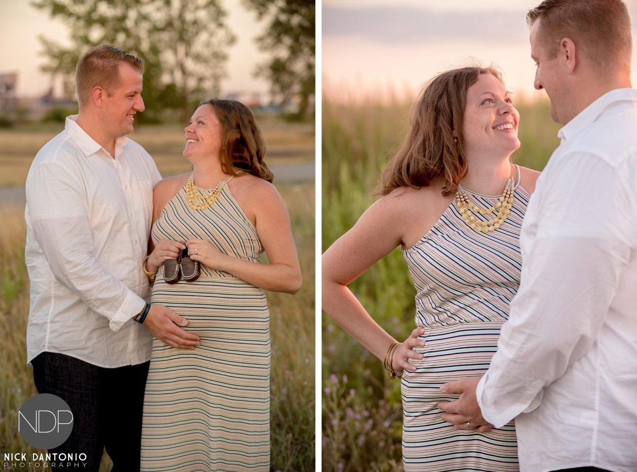 08-Buffalo Waterfront Sunset Maternity Photos_FB
