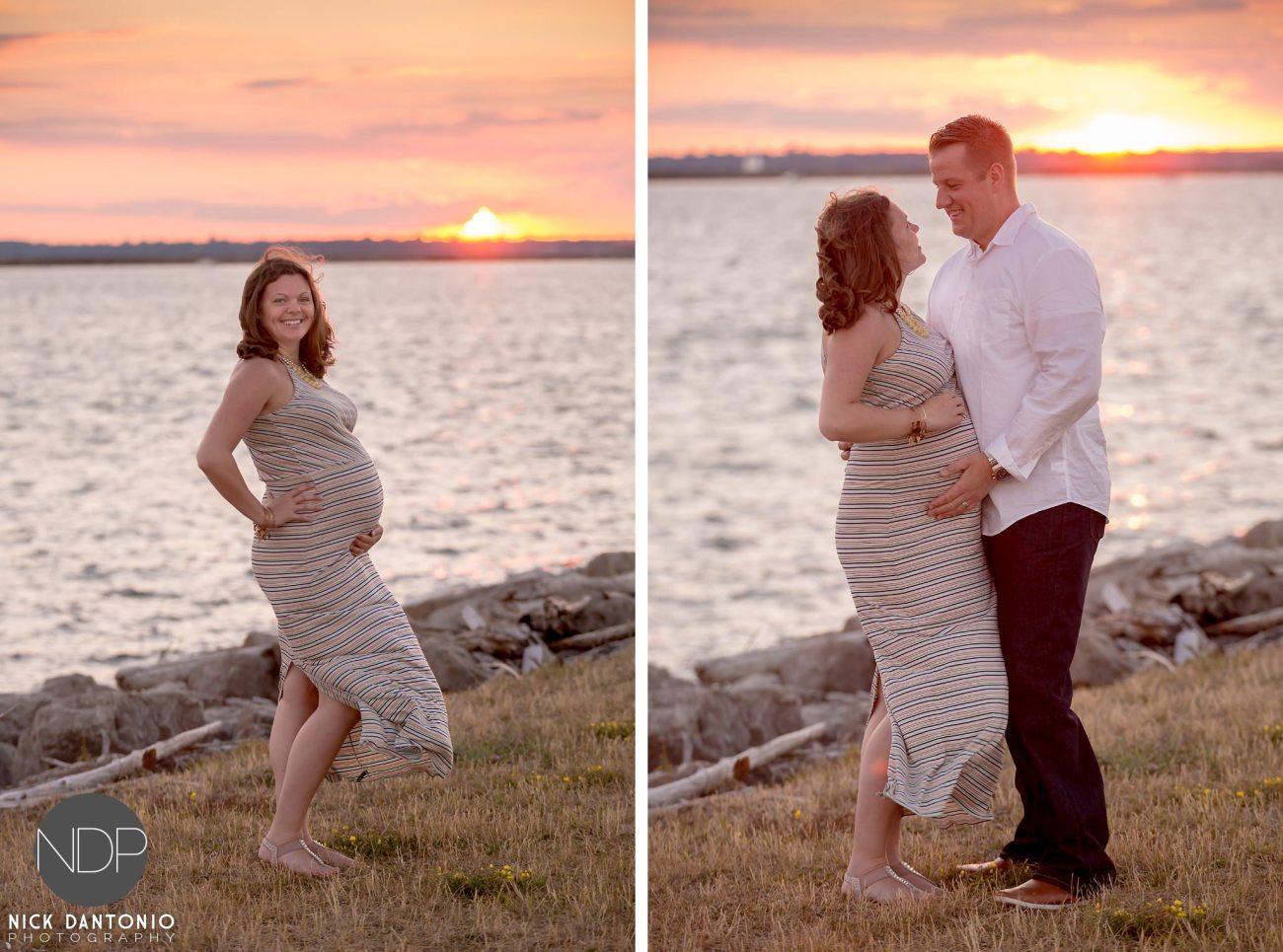 13-Buffalo Waterfront Sunset Maternity Photos_FB