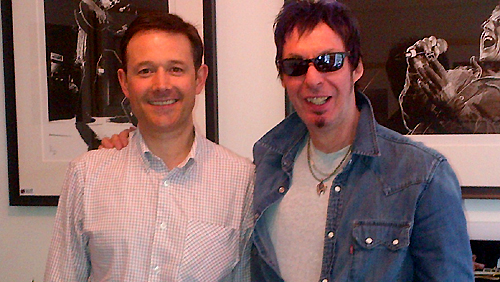 Mark Overton (Off Beat Lounge) with Nick.