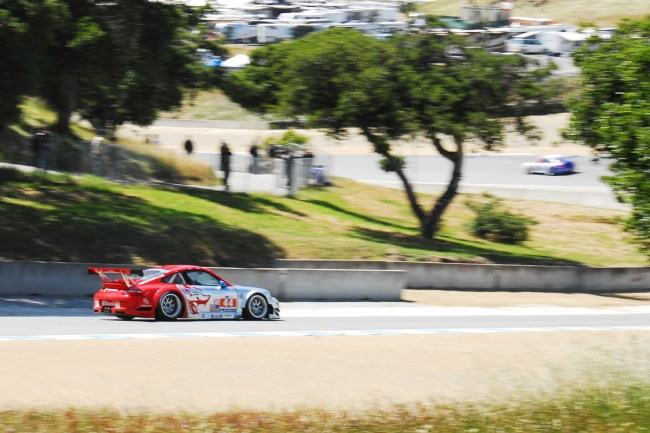 American Le Mans Series at Laguna Seca, Monterey California- Flying Lizard Motorsports Porsche GT3 GT 1st Place