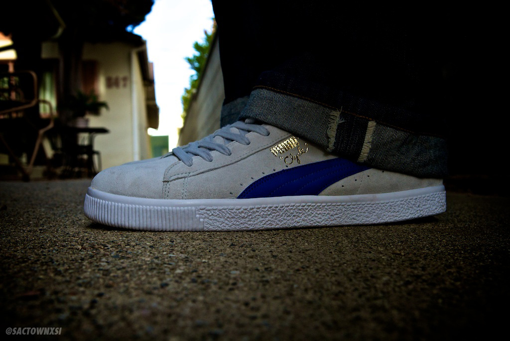 PUMA Clyde Script Grey Violet/Royal