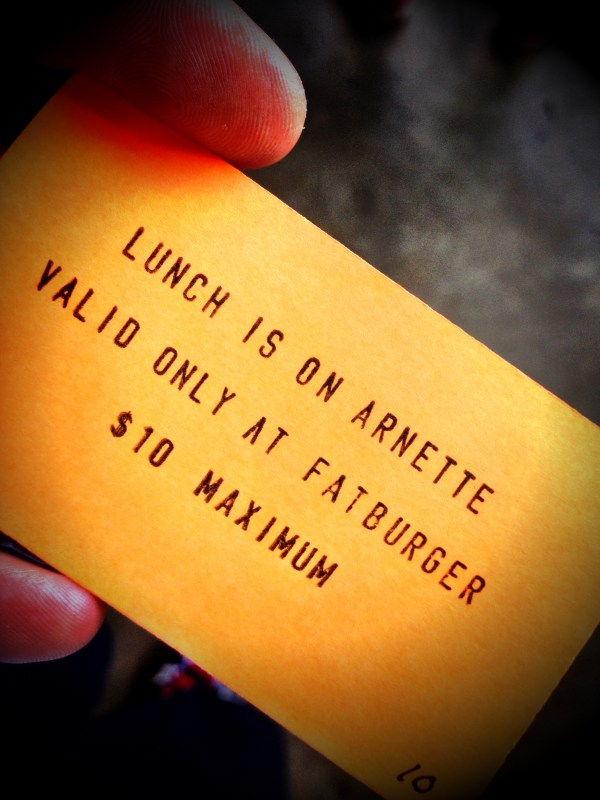 There is such a thing as a free lunch! Thanks Arnette!