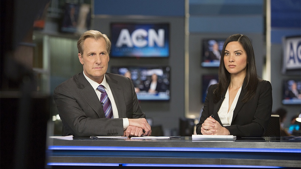 The Newsroom - Jeff Daniels and Olivia Munn