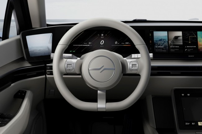 Sony Vision S Electric Concept Car Steering Wheel and Dash