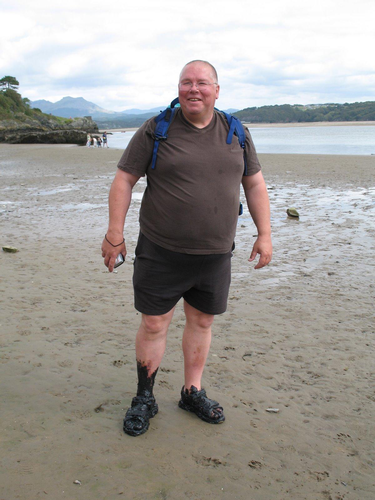 Nick on the beach near Porthmadog
