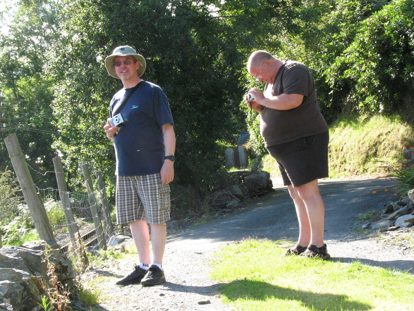 A tubby Nick and his brother near Ffestiniog