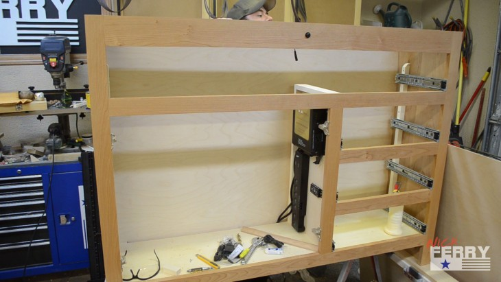 making a tv lift cabinet with secret compartment ep63