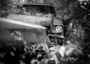 Beat up old mustang waiting to be redeamed