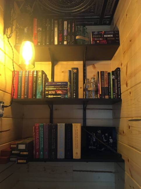 rearranged the books