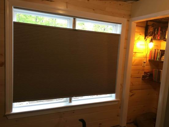 shades in place, window almost finished